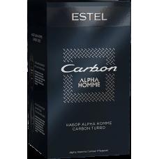 Набор Estel Alpha Homme Carbon для профессионального использования (шамп. 435 мл, массаж-гель 115 мл)